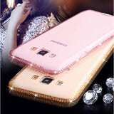 Diamond Crystal Frame Soft Case for iPhone Samsung