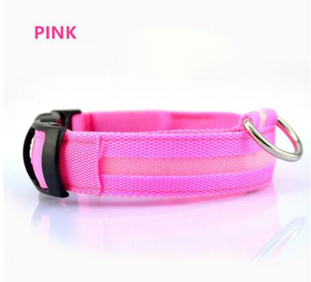 New LED Nylon Pet Dog Collar