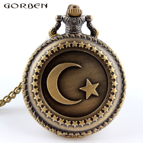 Vintage Moon Star Steampunk Watch for Men or Women