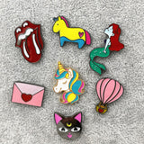 Cute Unicorn Balloon Cat Envelop Enamel Pin
