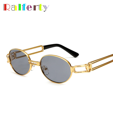Unisex New Retro Round Vintage Steampunk Sunglasses