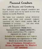 Isle of Crackers - Handmade Flaxseed Crackers with Sesame & Cranberry 150g