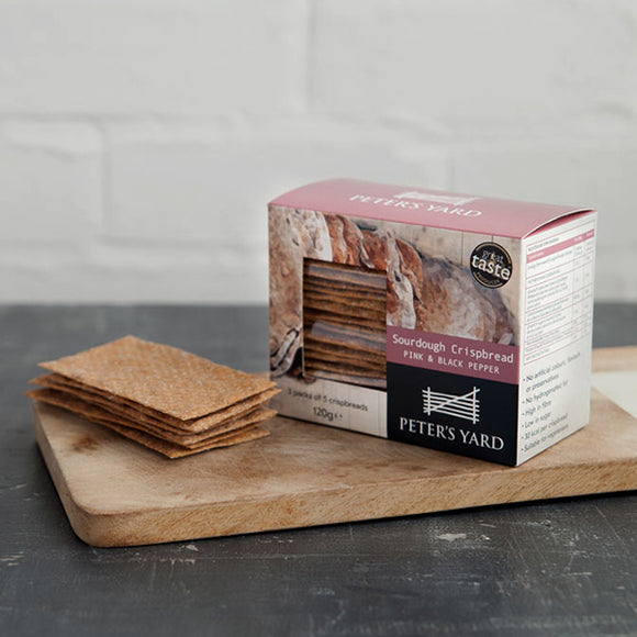Peter's Yard - Sourdough Crispbread Pink and Black Pepper Lunch Pack 120g