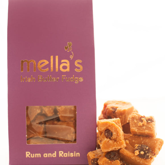 Mella's Irish Butter Fudge - Rum & Raisin Pouch 175g