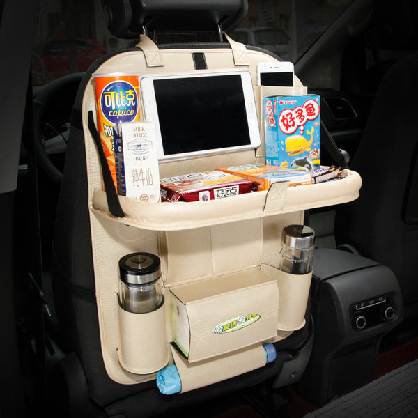 Amazing Backseat Organizer with Dining Table & Charger Cable