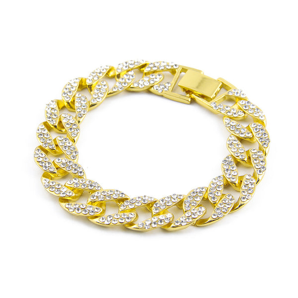Gold Bangle with Chips