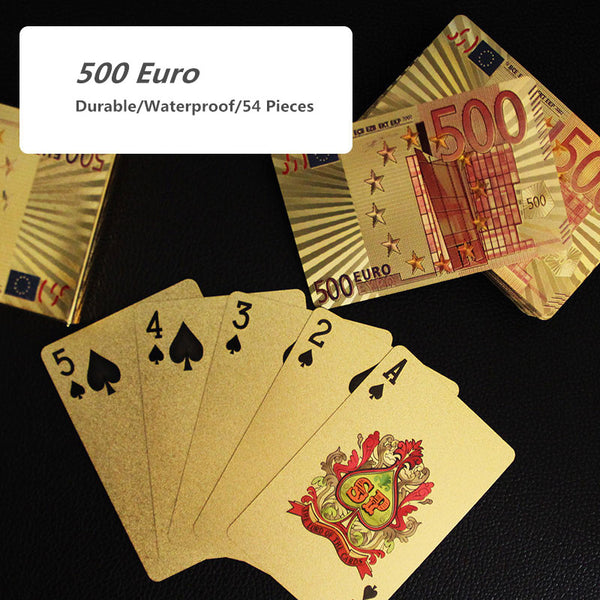 999.9 Gold Playing Cards - Currency Collection