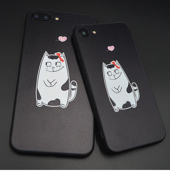 3D Cats Couple Case for iPhone
