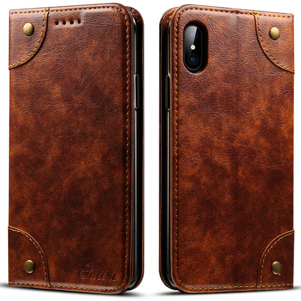 Vintage Magnetic Wallet Case II for iPhone