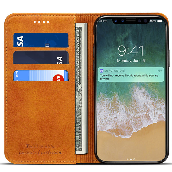 Simple Magnetic iPhone Wallet Case