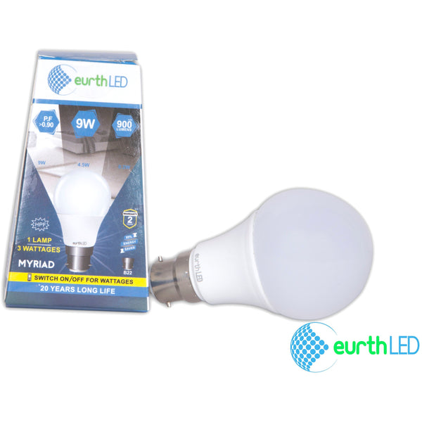 Myriad 9w Multiwatt LED Bulb