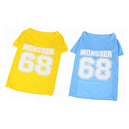 Cool Large Dog Sport Design T-Shirt - Blue And Yellow