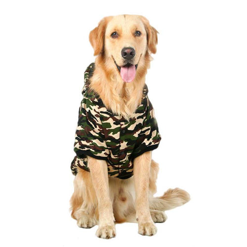 Camouflage Design Large Dog Clothes