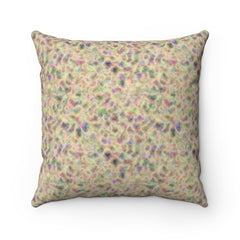 Vanilla Cream Turbulence Spun Polyester Square Pillow