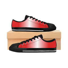 White and Red LineaR Women's Sneakers