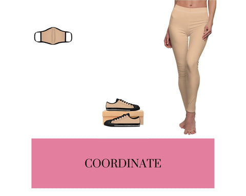 Nude Face Mask, Nude Sneakers, and Nude Leggings