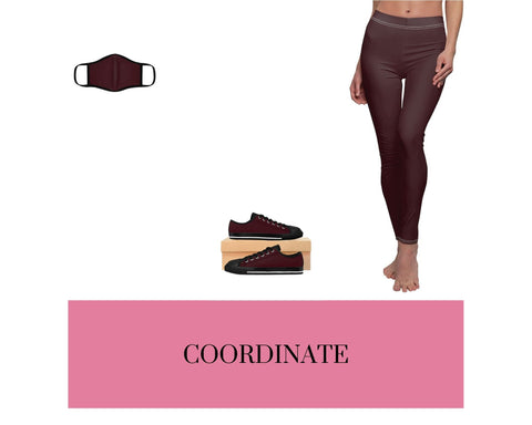 Chocolate Brown Face Mask, Chocolate Brown Sneakers, and Chocolate Brown Leggings