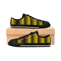 Gold and Black Vertical Women's Sneakers