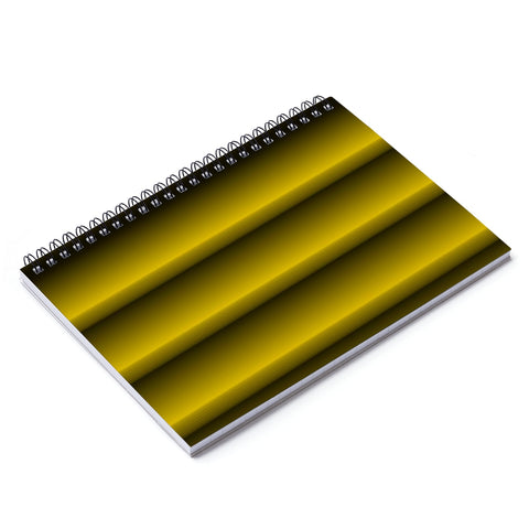 Black and Gold Vertical Notebook - Ruled Line