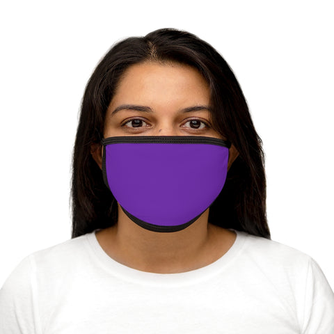 Grape Mixed-Fabric Face Mask