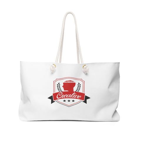 Creative White Weekender Bag