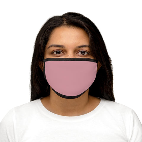 Solid Light Pink Mixed-Fabric Face Mask