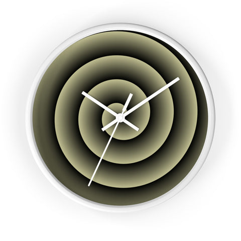 Yellow Spiral Wall Clock