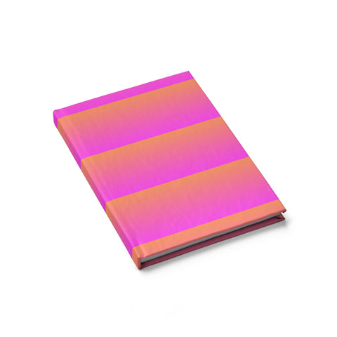 Pink and Orange Linear Journal - Blank