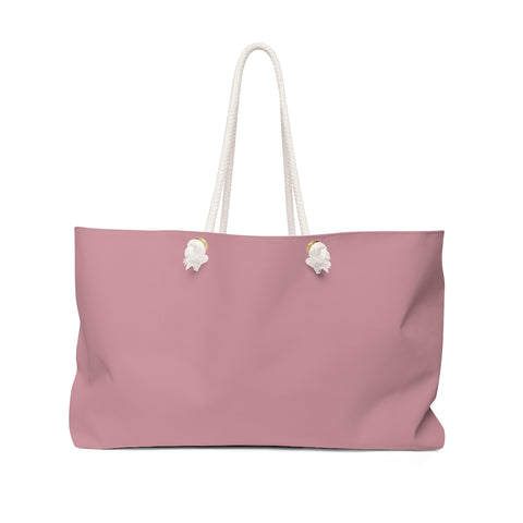 Solid Light Pink Weekender Bag
