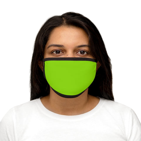 Solid Lime Shock Mixed-Fabric Face Mask