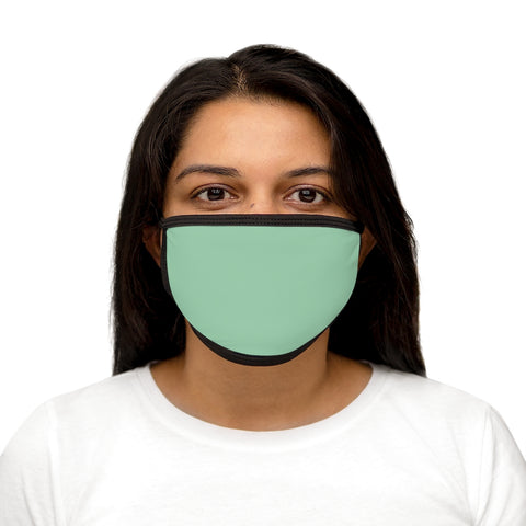 Solid Mint Mixed-Fabric Face Mask