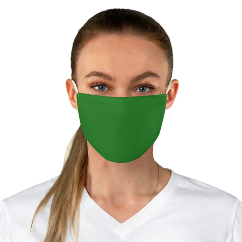 Forest Green Fabric Face Mask