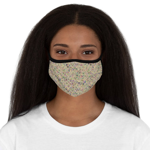 Vanilla Cream Turbulence Fitted Polyester Face Mask