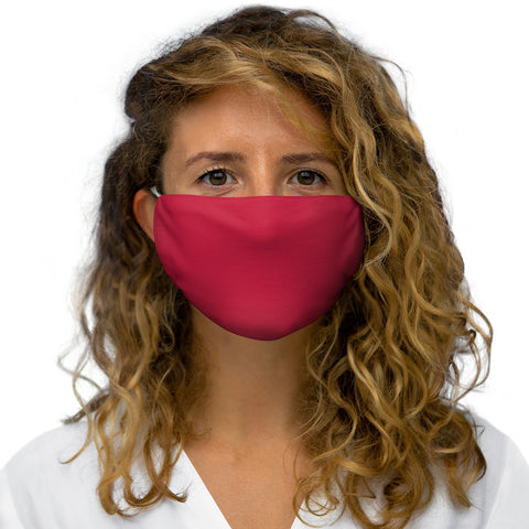 Solid True Red Snug-Fit Polyester Face Mask