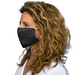 Black and Red Turbulence Snug-Fit Polyester Face Mask