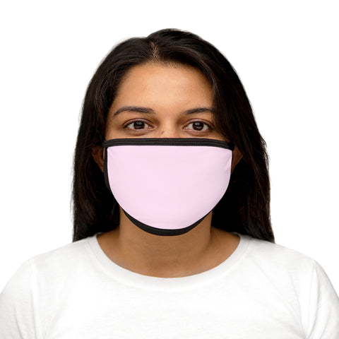 Light Magenta-Pink Mixed-Fabric Face Mask
