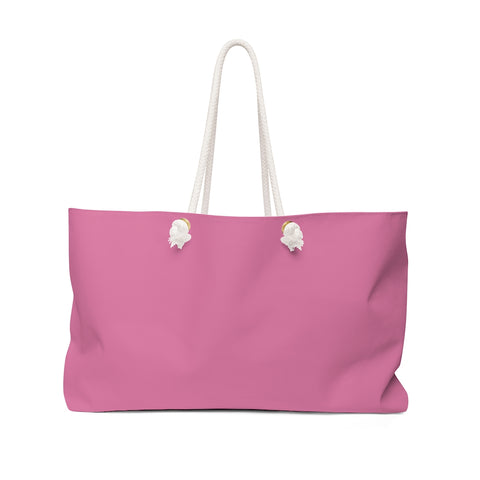Solid Hot Pink Weekender Bag