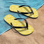 Gold and White Clouds Unisex Flip-Flops