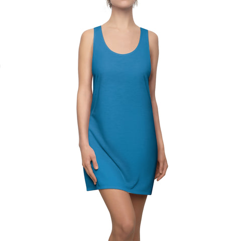 Solid Turquoise Racerback Dress