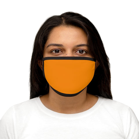 Tangerine Mixed-Fabric Face Mask