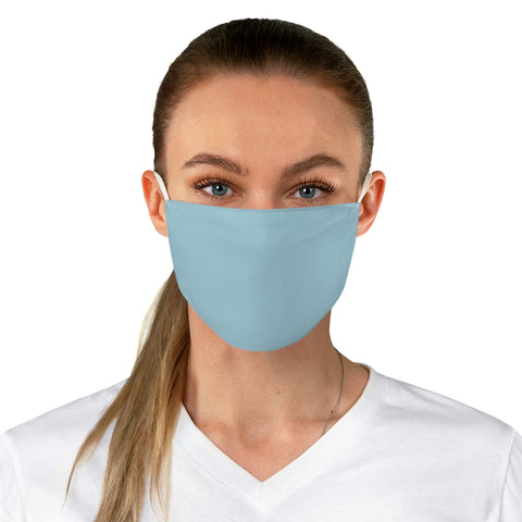 Light Blue Fabric Face Mask