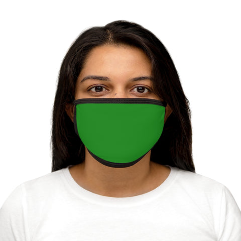 Forest Green Mixed-Fabric Face Mask