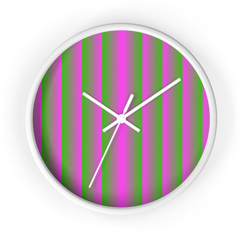 Pink and Green Vertical Wall Clock