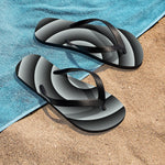 Light Blue Spiral Unisex Flip-Flops