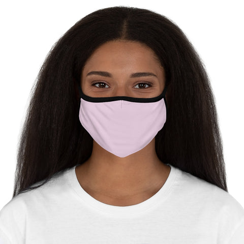Light Magenta-Pink Fitted Polyester Face Mask