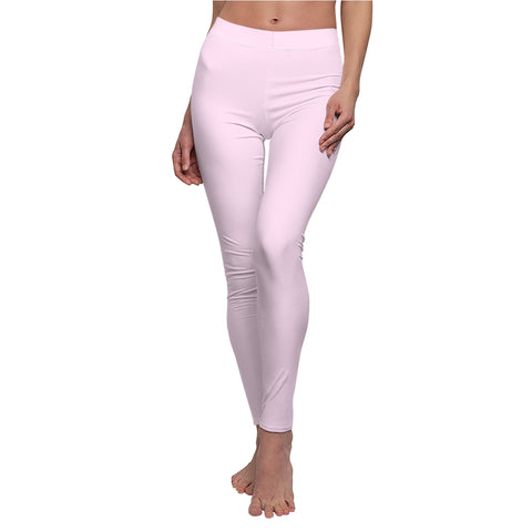Light Magenta-Pink Casual Leggings