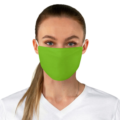 Solid Lime Shock Fabric Face Mask