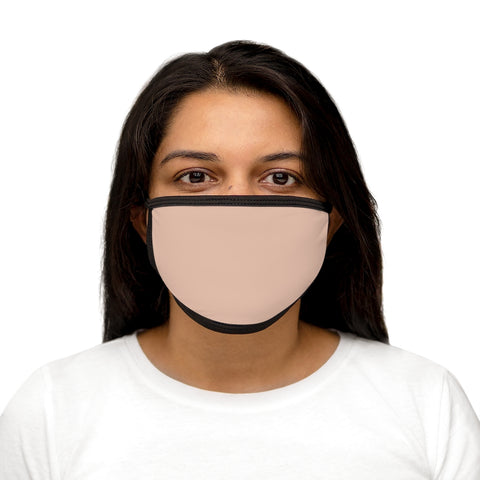 Pale Pink Mixed-Fabric Face Mask