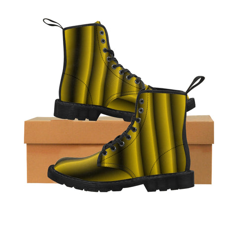 Black and Gold Vertical Boots