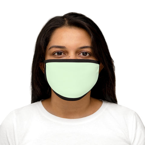 Pale Green Mixed-Fabric Face Mask